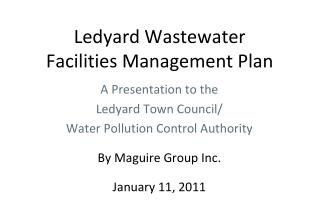 Ledyard Wastewater Facilities Management Plan
