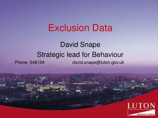 Exclusion Data