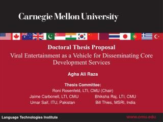 Doctoral Thesis Proposal