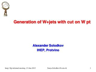 Generation of W+jets with cut on W pt