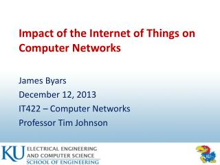 Impact of the Internet of Things on Computer Networks