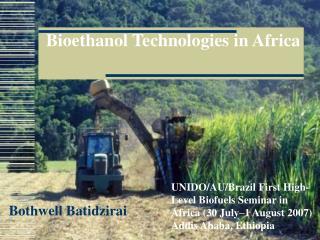 Bioethanol Technologies in Africa