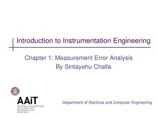 Introduction to Instrumentation Engineering