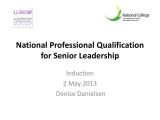 National Professional Qualification for Senior Leadership