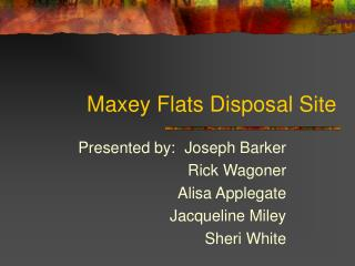 Maxey Flats Disposal Site