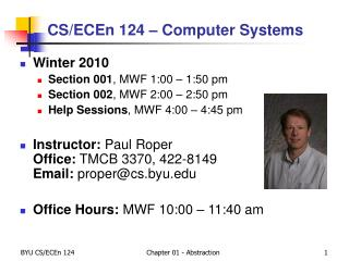 CS/ECEn 124 – Computer Systems