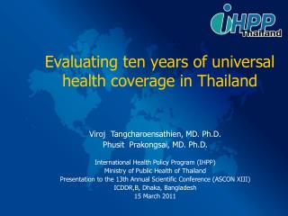 Evaluating ten years of universal health coverage in Thailand