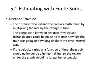 5.1 Estimating with Finite Sums
