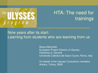 HTA: The need for trainings