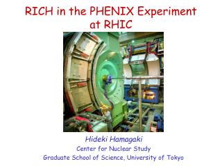 RICH in the PHENIX Experiment at RHIC