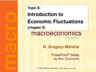 Topic 8: Introduction to Economic Fluctuations (chapter 9)