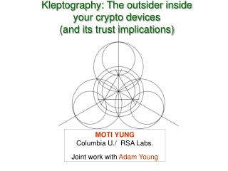 Kleptography: The outsider inside your crypto devices (and its trust implications)