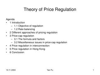 Theory of Price Regulation
