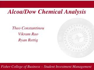 Alcoa/Dow Chemical Analysis