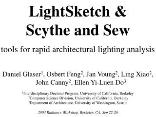 LightSketch & Scythe and Sew