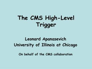The CMS High-Level Trigger