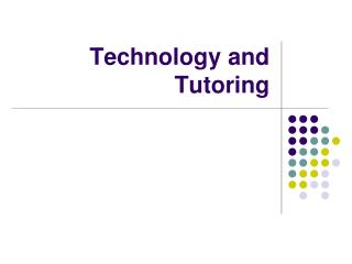 Technology and Tutoring
