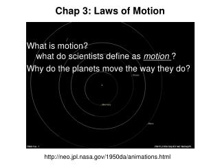 Chap 3: Laws of Motion