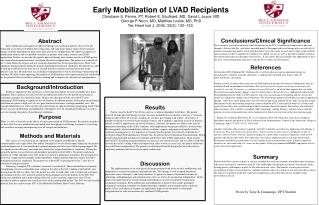 Early Mobilization of LVAD Recipients