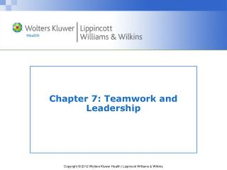 Chapter 7: Teamwork and Leadership