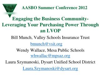 AASBO Summer Conference 2012