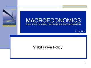 MACROECONOMICS AND THE GLOBAL BUSINESS ENVIRONMENT