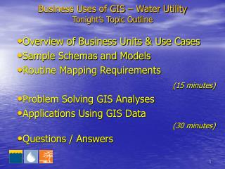 Business Uses of GIS – Water Utility