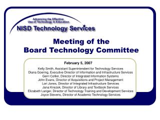 Meeting of the  Board Technology Committee