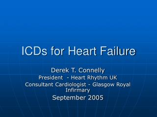 ICDs for Heart Failure