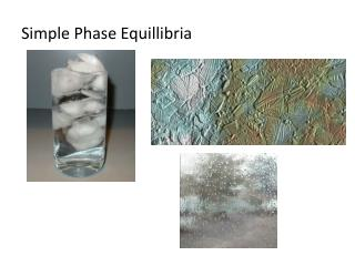 Simple Phase Equillibria
