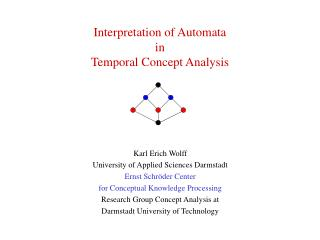 Interpretation of Automata  in Temporal Concept Analysis