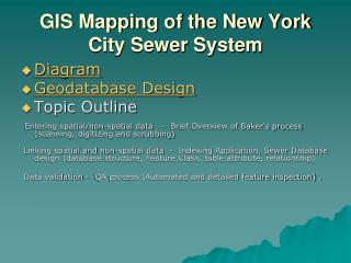 GIS Mapping of the New York City Sewer System