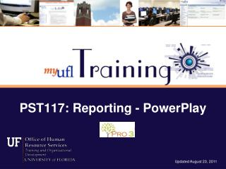 PST117: Reporting - PowerPlay