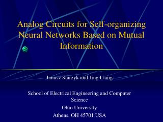 Analog Circuits for Self-organizing Neural Networks Based on Mutual Information