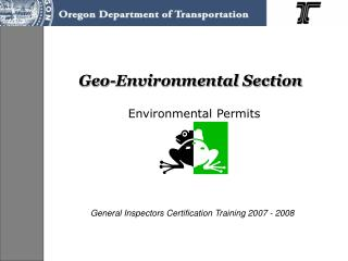 Geo-Environmental Section