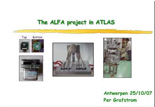 The ALFA project in ATLAS