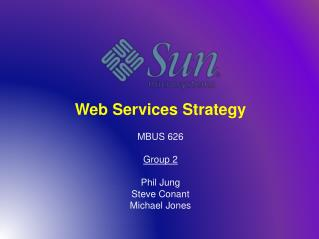 Web Services Strategy