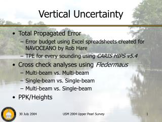 Vertical Uncertainty
