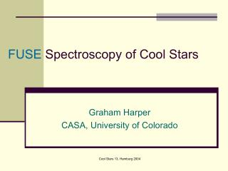 FUSE  Spectroscopy of Cool Stars