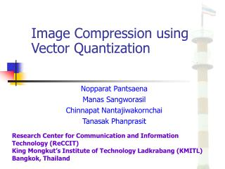 Image Compression using Vector Quantization