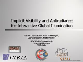 Implicit Visibility and Antiradiance for Interactive Global Illumination