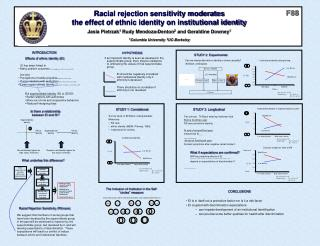Racial rejection sensitivity moderates  the effect of ethnic identity on institutional identity