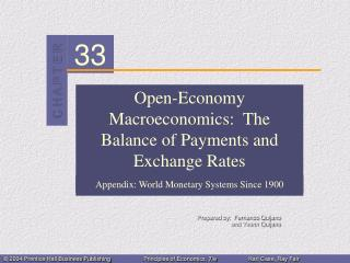 Open-Economy Macroeconomics:  The Balance of Payments and Exchange Rates