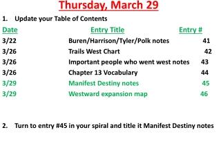 Thursday, March 29