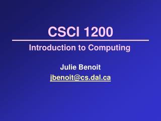 CSCI 1200