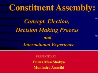 Constituent Assembly: