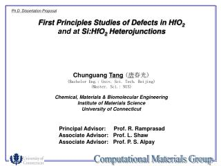 First Principles Studies of Defects in HfO 2  and at  Si:HfO 2  Heterojunctions