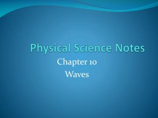 Physical Science Notes