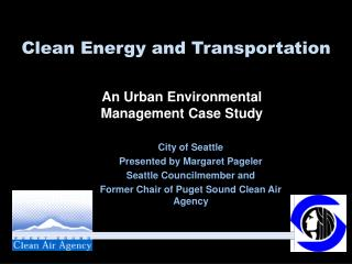 Clean Energy and Transportation