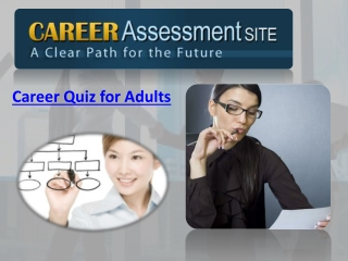 Career Quiz for Adults